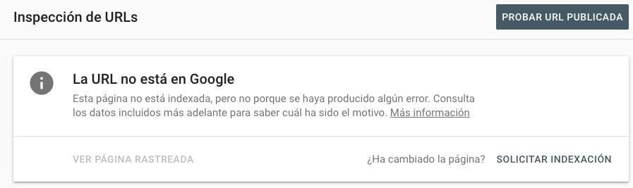 Artículo no indexado Google